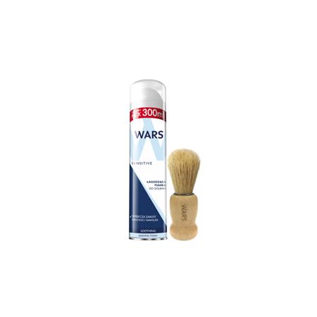 Wars Pianka do golenia Sensitive+Pędzel do golenia